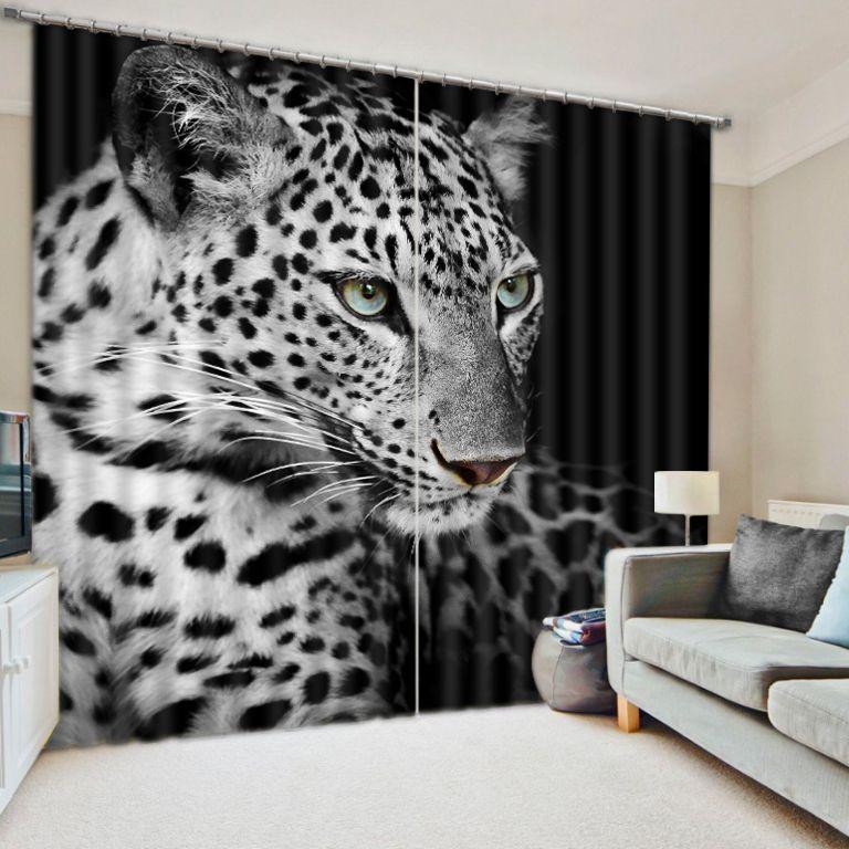Современная роскошь 3D шторы для кровать Гостиная Офис Отель Cortinas тигр животных плотные Тенты гардины