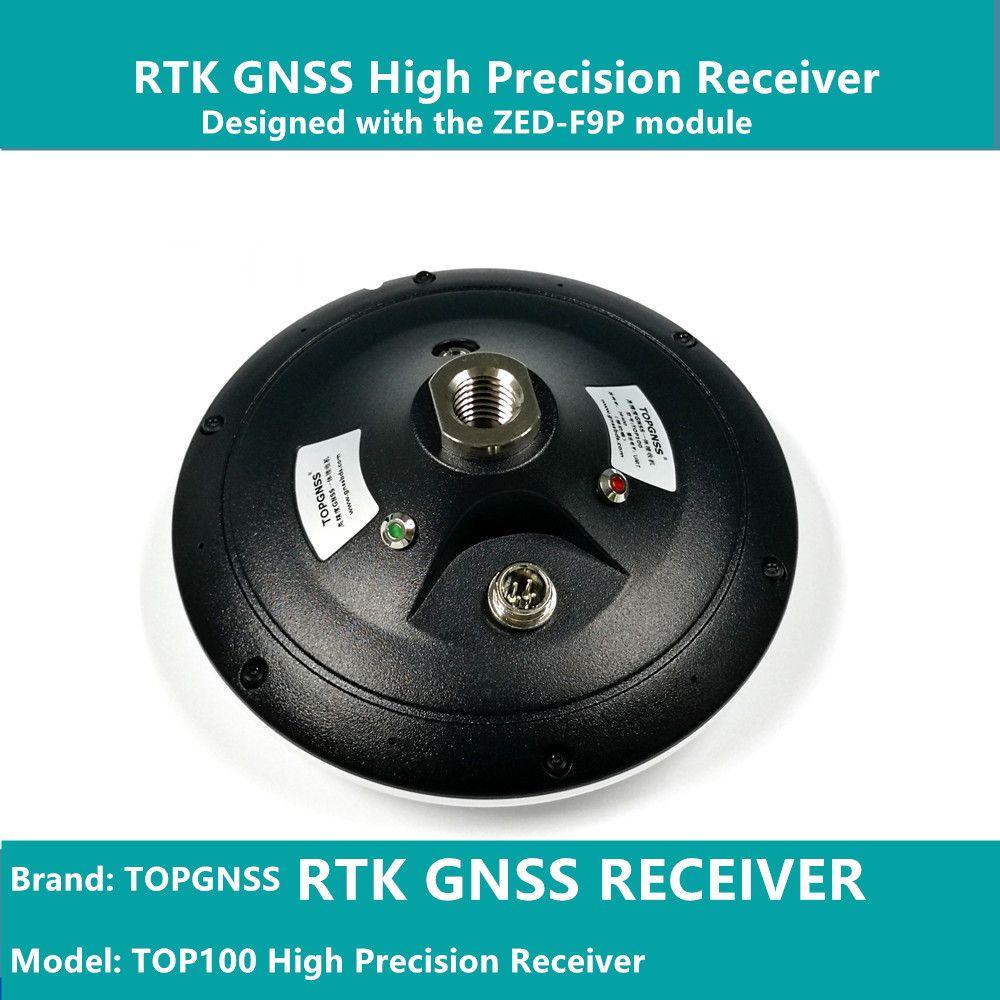 Entworfen mit die ZED-F9P F9 modul, die RTK high-präzision GNSS empfänger kann verwendet werden als basis station und rove TOPGNSS TOP100