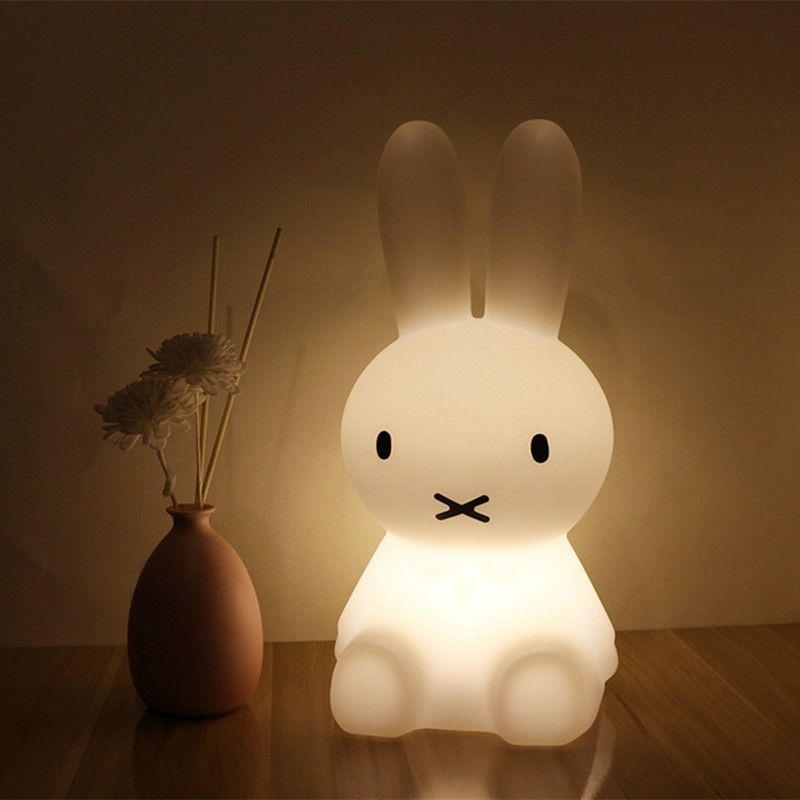 H28CM Led Rabbit Night Light USB for Children Baby Kids Gift Animal Cartoon Decorative Lamp Bedside Bedroom Living Room