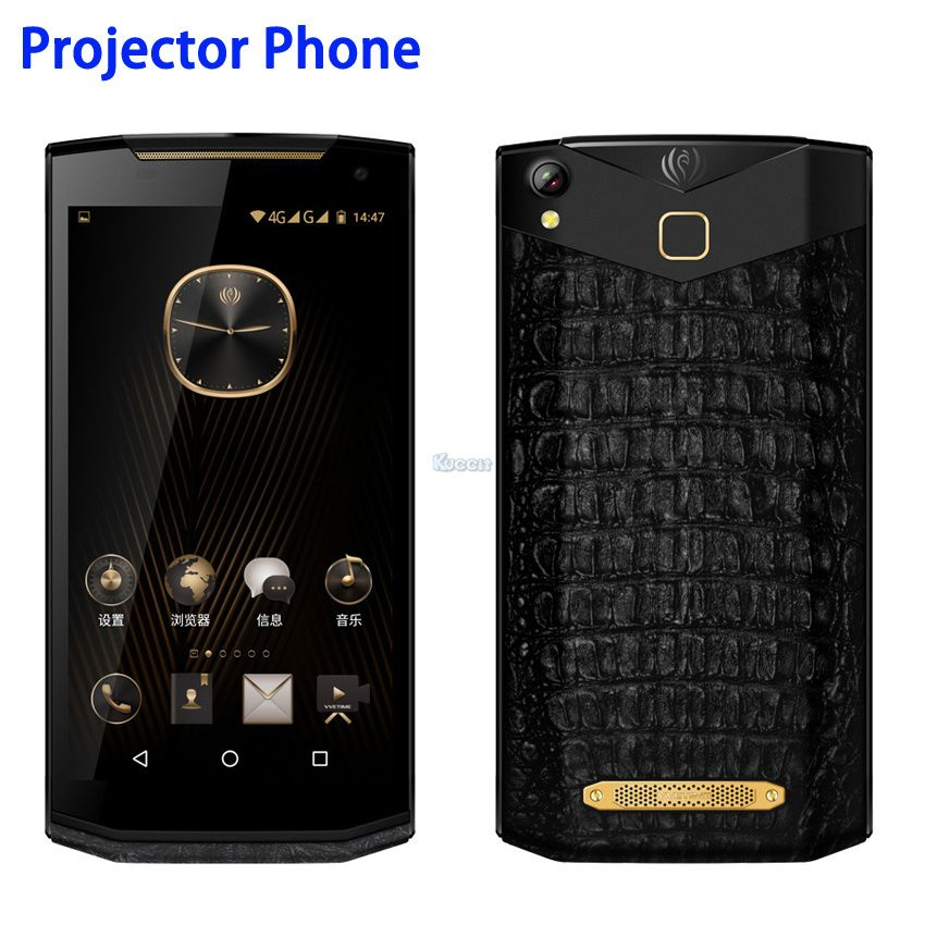 China Kcosit VM2 Android Projector Phone Portable Business Luxury Smartphone Leather 5.9