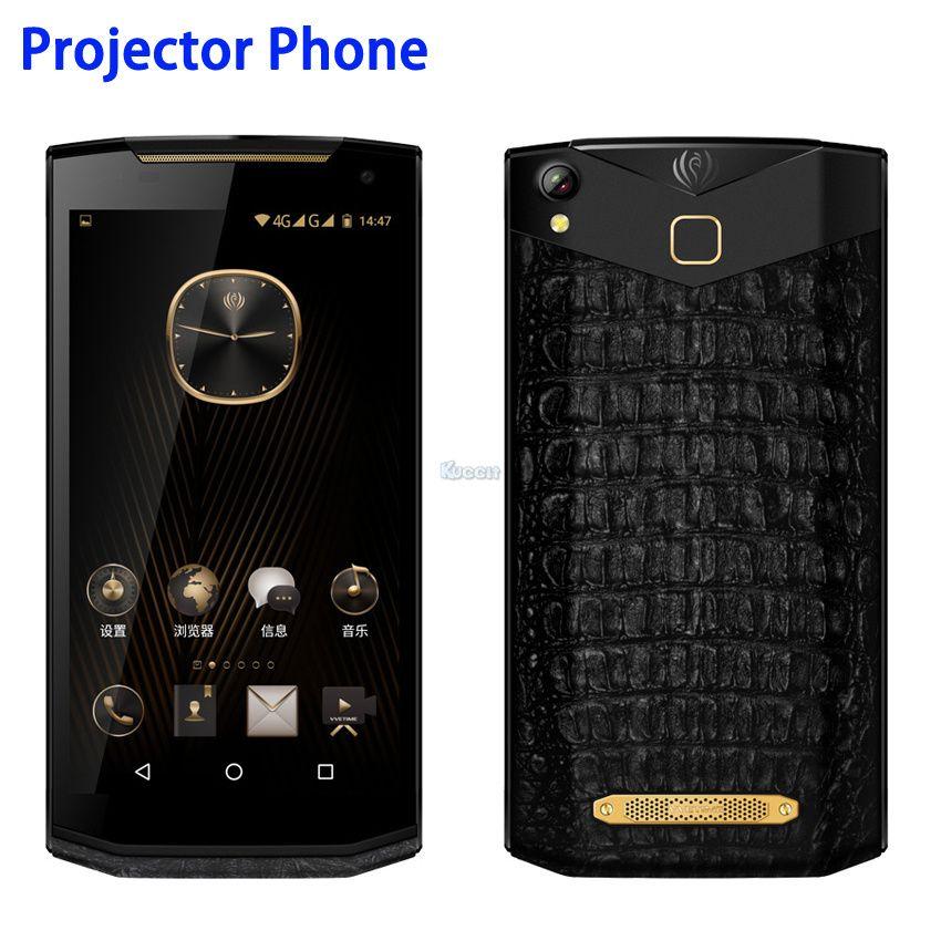 China Kcosit VM2 Android Projektor Telefon Tragbare Business Luxus Smartphone Leder 5,9