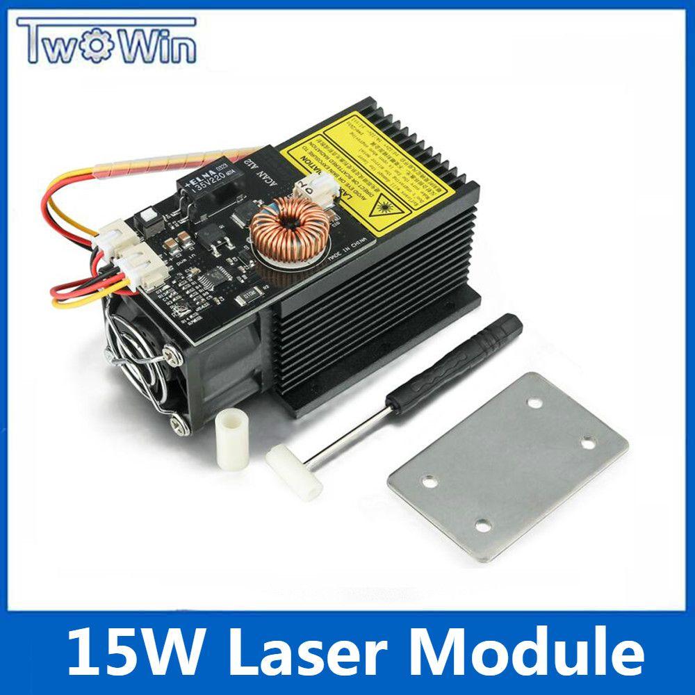 15 W Leistungsstarke Laser Modul 12 V 445-450nm Blauen Laser Kopf Laser Gravur für DIY CNC Laser Stecher Maschine
