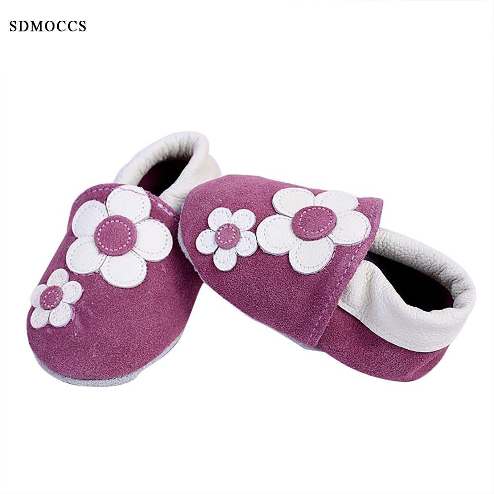 Продвижение sdmoccs новорожденных Обувь для младенцев Пояса из натуральной кожи ребенка Обувь для малышей Мягкая подошва Нескользящая малыше...