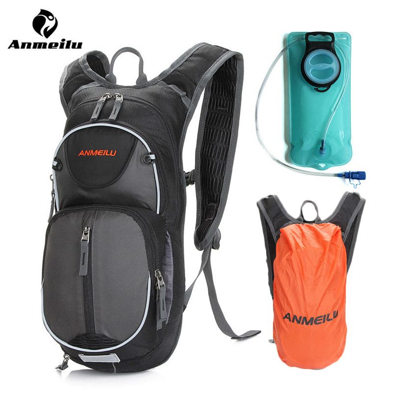 Anmeilu 2L Water Bag Rain Cover Cycling Backpack MTB Road Outdoor Bike Running Hydration Bladder Camelback Ciclismo Accessories