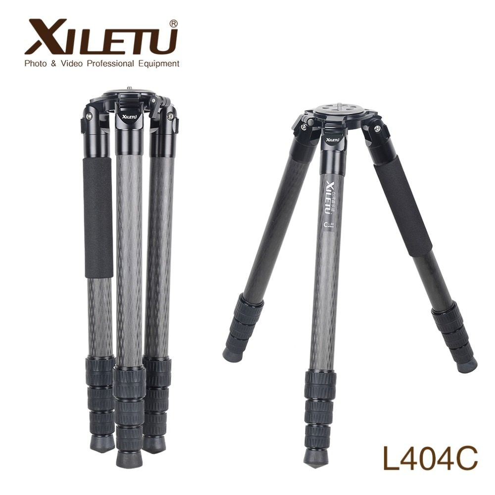 XILETU Professional Stable Photography Bird Watching Carbon Fiber Tripod For Digital Camera Video Camcorder With Shoulder Pads