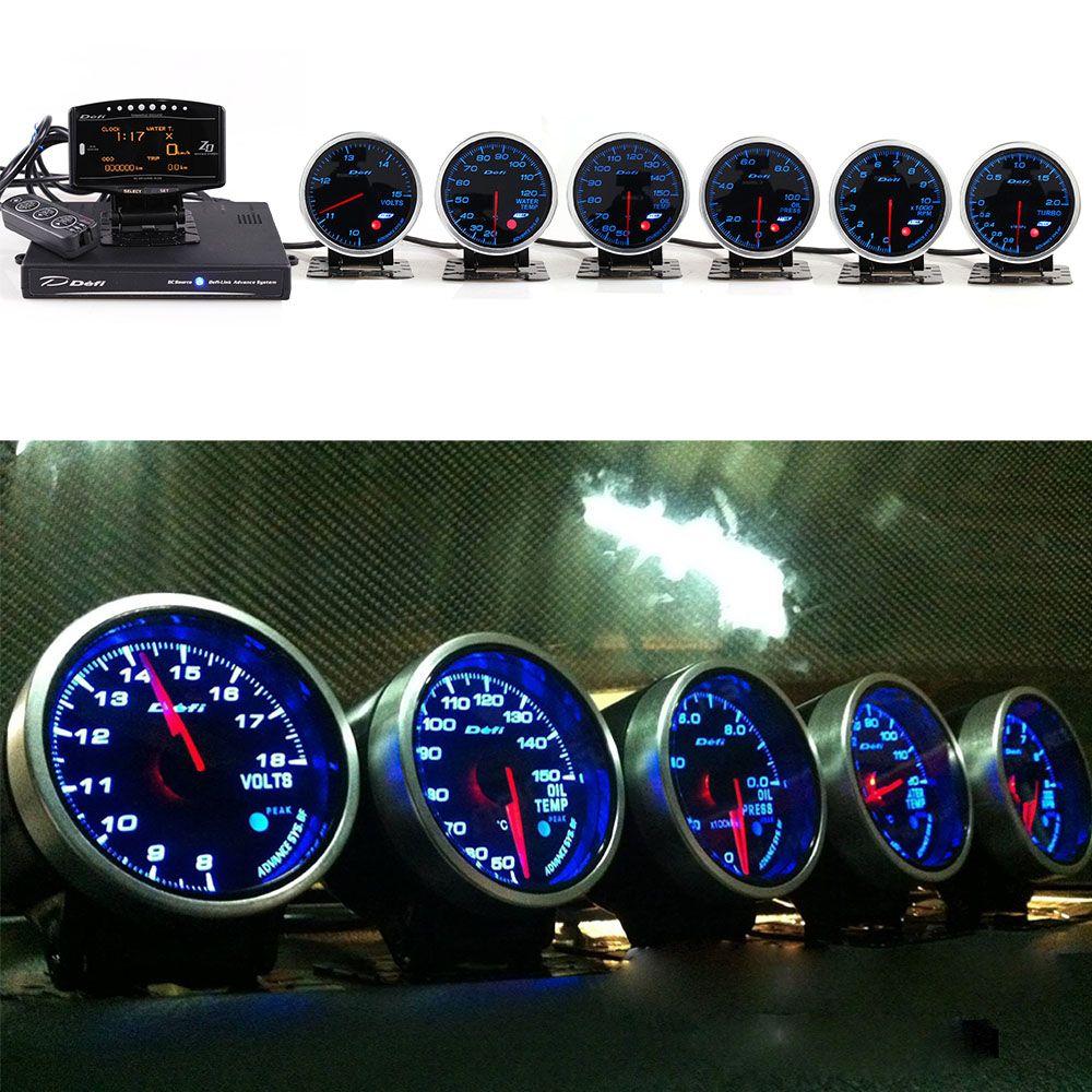 Defi Voraus System Daisy Kette Auto Gauge ZD + 6 messgeräte Voraus bf Volt Wasser Temp Öl Temp Ölpresse tachometer RPM Turbo auto