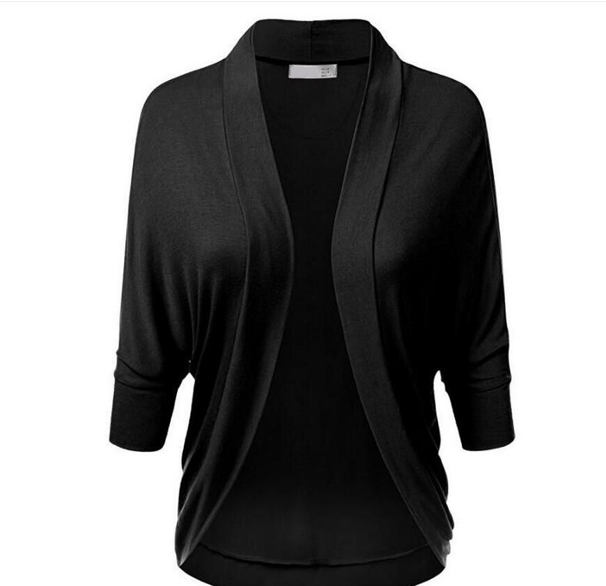 Bat sleeve loose loose comfortable cardigan coat female