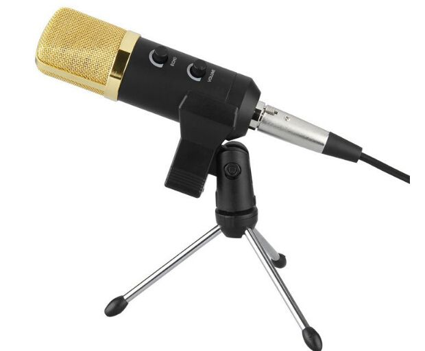 MK -F100TL Wired Microphone USB Condenser Sound <font><b>Recording</b></font> Mic with Stand for Chatting Singing Karaoke Laptop Skype