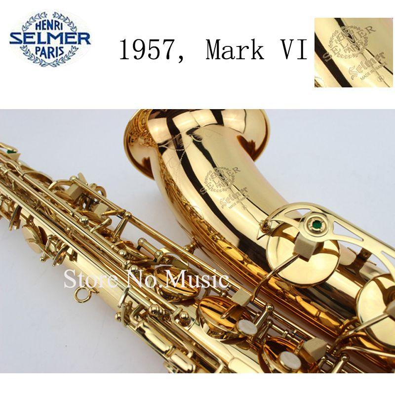 Mark VI Neue Produkt Kopie Alto Tenor Saxophon, Bb/Eb Sax mit fall, mundstück, handschuh, schilf, straps