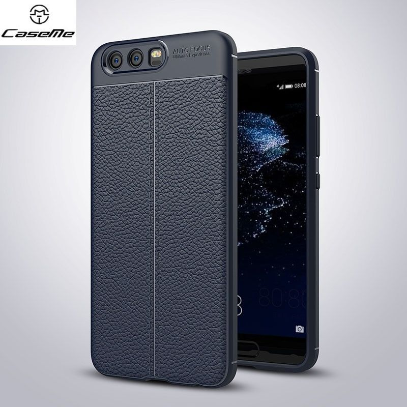 CaseMe Shockproof Soft TPU Case For Huawei P10 Plus P10 Lite Litchi Pattern Full Protection Back Cover Case For Huawei P10 Cases