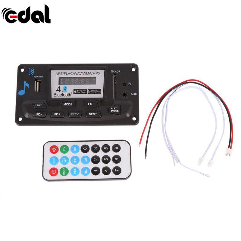 EDAL 4,0 Bluetooth MP3 Decodierung Bord Led-modul 12 V DIY USB/SD/MMC APE FLAC WAV Decoder Rekord Mp3-player AUX FM Ordner Schalter