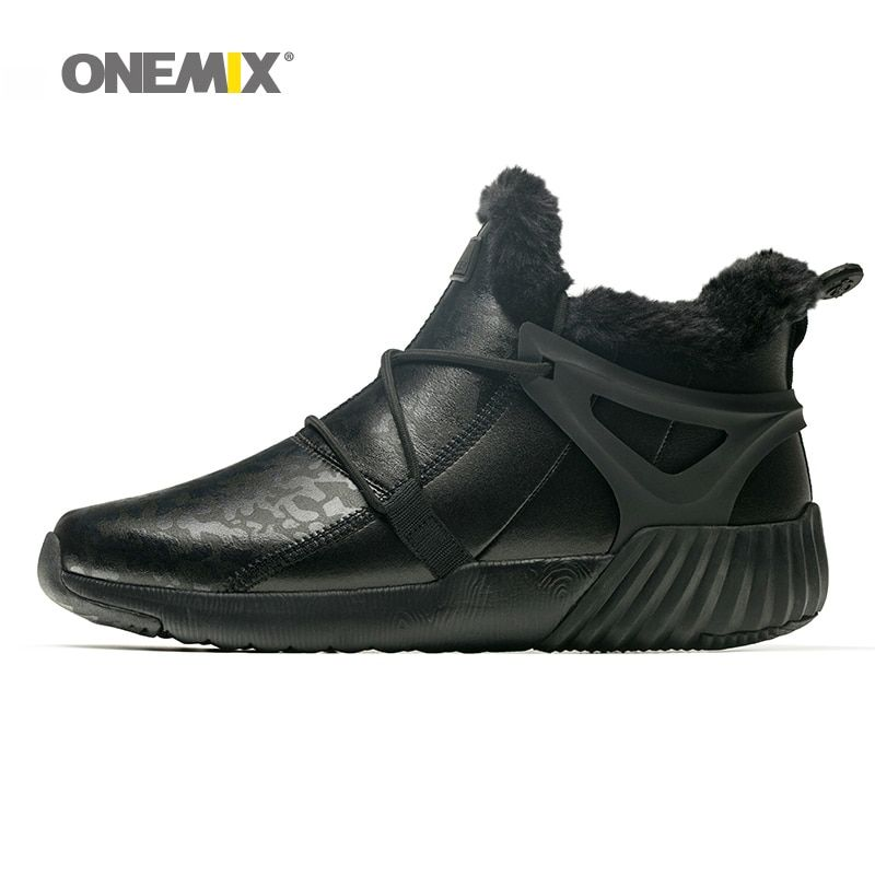 Onemix men hiking shoes anti slip winter shoes for women mountain shoes comfortable warm outdoor sneakers for men trekking
