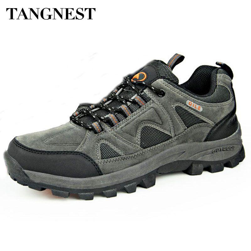 Tangnest Otoño Hombres Botas 2018 Nueva Pareja Transpirable Zapatos Casuales Masculinos Zapatos Antideslizantes Impermeables Hombre Grande Tamaño 36 ~ 45 XYD024