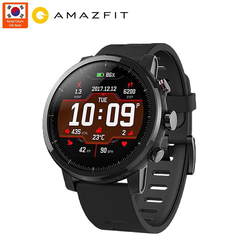 Globale Version Xiaomi Huami Amazfit 2 Amazfit Stratos Tempo 2 Herz Rate Monitor Smart Uhr mit GPS 5ATM Wasserdicht