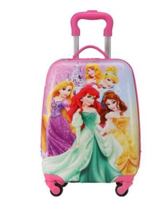 2017 Cartoon Kid's Travel Trolley Bags wheeled suitcase for kids Children luggage suitcase Rolling Case travel bag on wheels