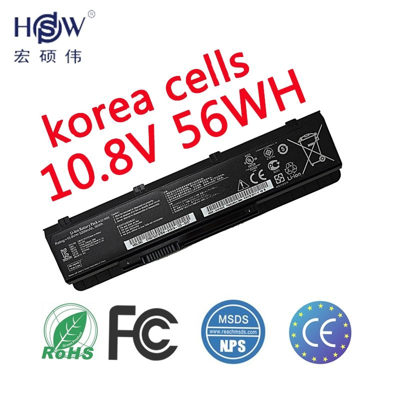 HSW NEW laptop battery FOR ASUS N45SV N55 N55E N55S N55SF N55SL N75 N75E battery for laptop lN75S N75SF N75SJ N75SL N75SN N75SV
