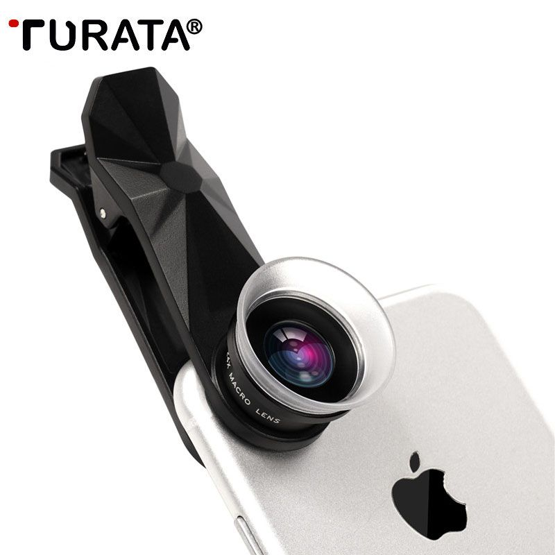 TURATA Universal Macro Photography Lenses 12-24X Super Macro Lens for iPhone Mobile Phone Camera Lens for Samsung Xiaomi Huawei