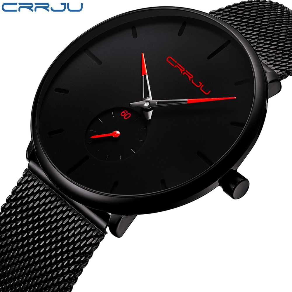 Crrju Watch Women And Men Watch Top Brand Luxury Famous Dress Fashion Watches Unisex Ultra Thin Wristwatch Relojes Para Hombre