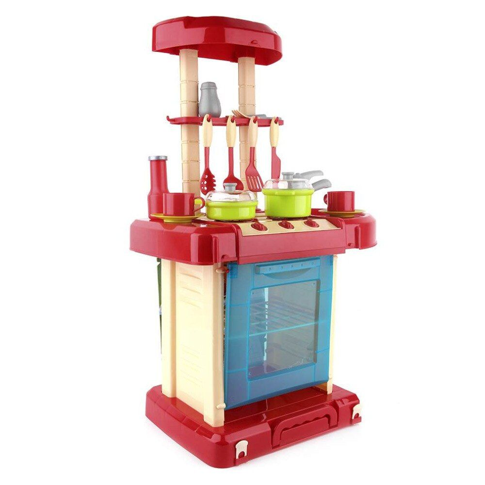 Kids Kitchen Toys Pretend Play Cooking Toys Tableware Sets Baby Kitchen Cooking <font><b>Simulation</b></font> Model Happy Pretend Play Toys Kitchen