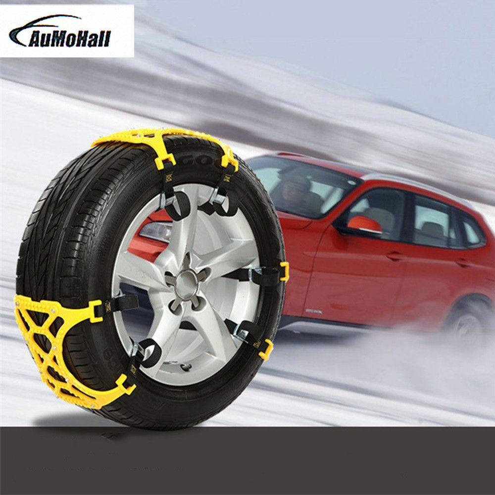 1 kit 6pcs  Universal Auto Car Snow Anti-skid Chains Winter Snow Chains Vehicles Wheel Antiskid Non-slipping Tire