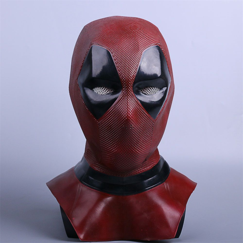 Deadpool Cosplay Leather Mask Costume Submarine Deuce Mascara Maskesi Grandfather Mascaras Disfraces High Quality Deluxe Latex