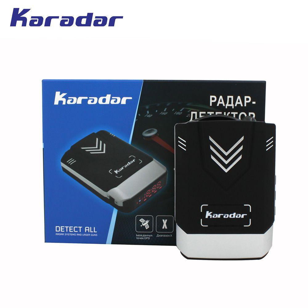 2018 KARADAR GPS Combined Radar Detector <font><b>Anti</b></font> Radar Car Radar Detector GPS Laser Radar Detector Voice Strelka Car-Detector