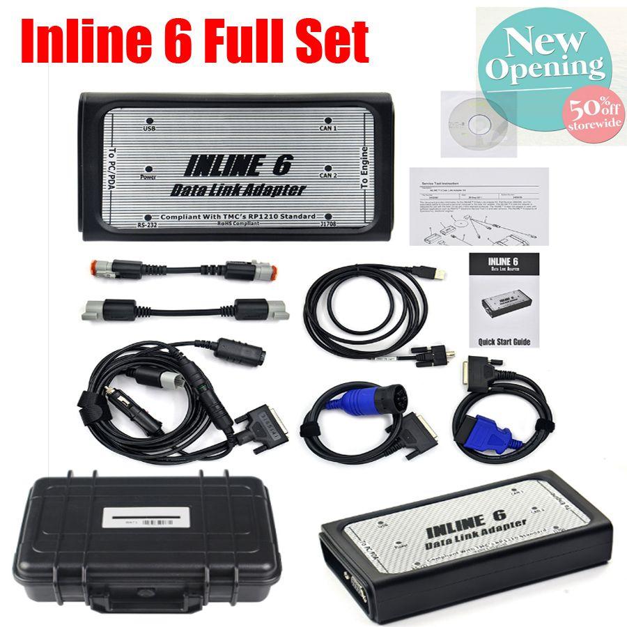 A + + qualität INLINE 6 Daten Link Adapter Heavy Duty scanner Volle 8 kabel Lkw beruf Diagnose Werkzeuge inline6 lkw scanner