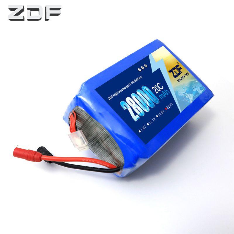 ZDF Power 6 S 22,2 v 28000 mah 20C lipo batterie für modell flugzeug anlage schutz maschine Hubschrauber UAV Drohnen