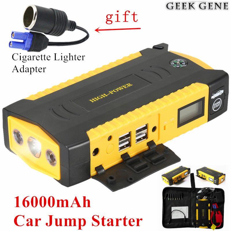 Auto Starthilfe 16000 mAh Tragbare Benzin Diesel Startvorrichtung Energienbank 600A 12 V Auto Ladegerät für Auto Batterie Booster Buster