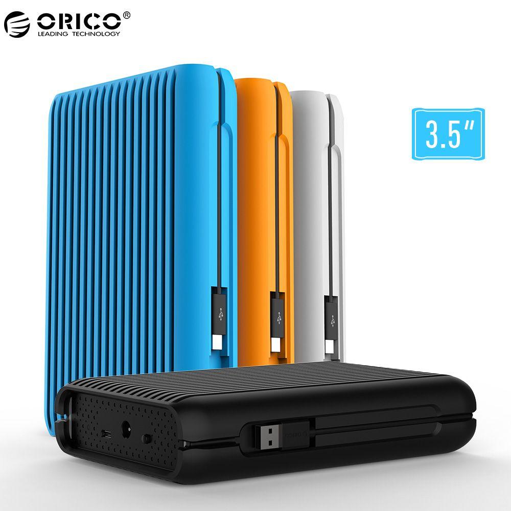 ORICO HDD 1/2/3/4 ТБ USB3.1 Gen2 Type-C 3.5 в 10 Гбит/с, высокая -Скорость противоударный Внешние жёсткие диски HDD Desktop мобильный жесткий диск