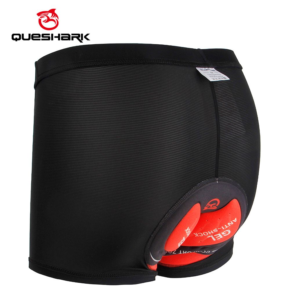 Queshark 2019 Cool ICE Men's Cycling Underwear Bicycle Mountain MTB Shorts Riding Bike Sport Tights Shorts 5D Padded