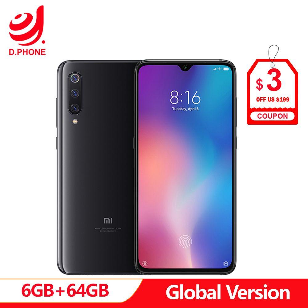 Globale Version Xiao mi mi 9 6 GB RAM 64 GB ROM mi 9 Smartphone Snapdragon 855 Octa Core 6,39
