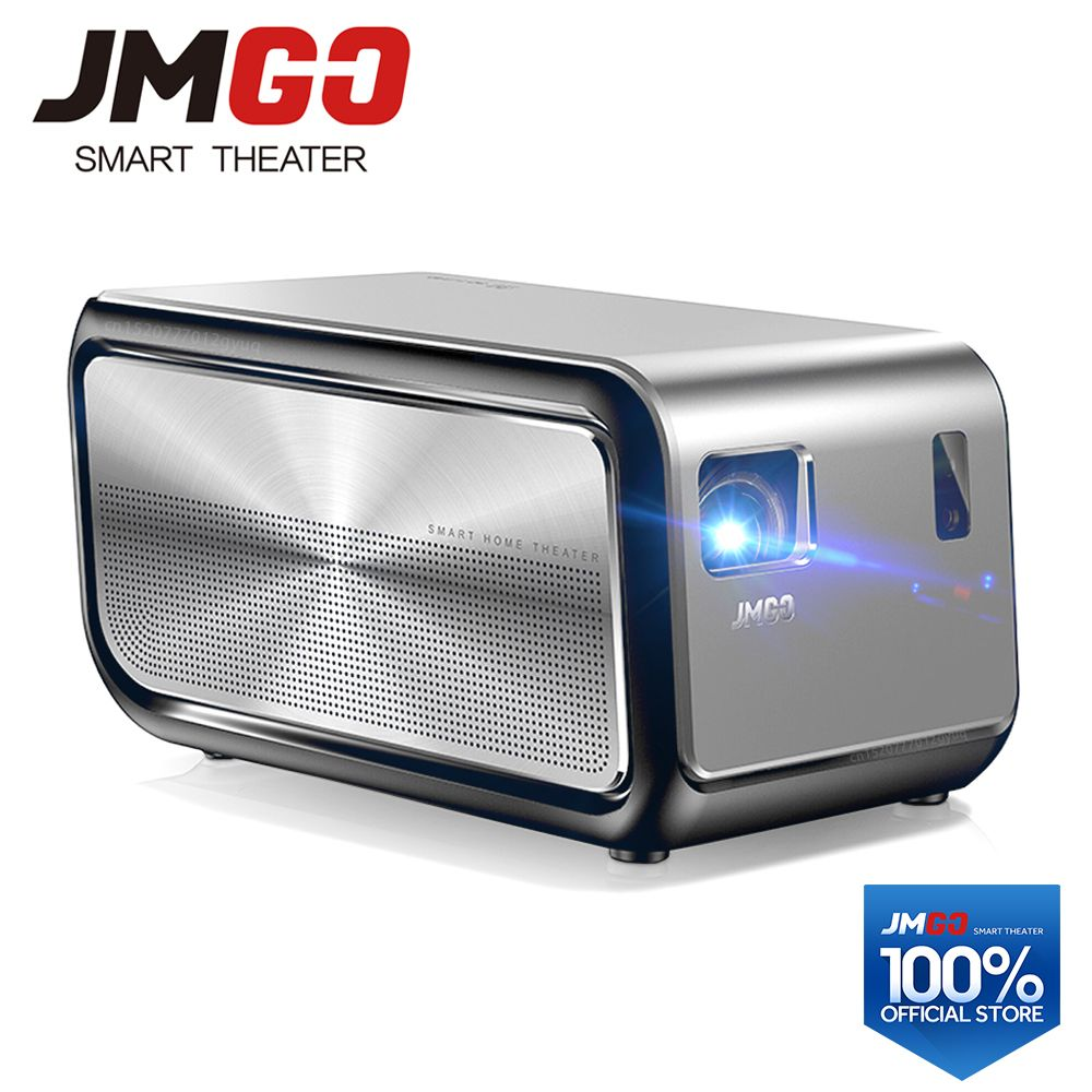 JMGO J6S, Full HD Android Projector, 1920x1080 Resolution, <font><b>1100</b></font> ANSI Lumen, Set in WIFI, HIFI Bluetooth Speaker, HDMI, 4K LED TV