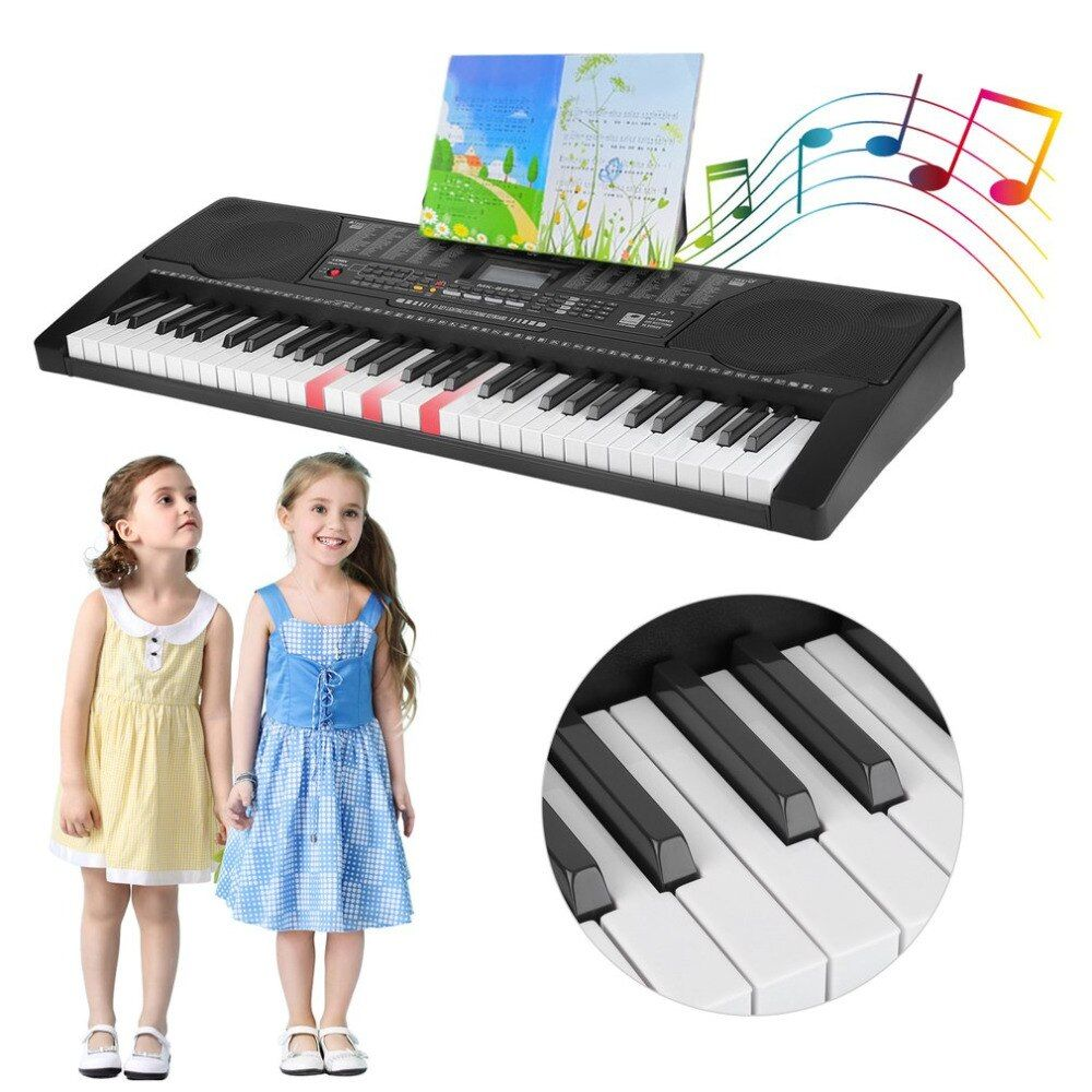 61 Keys LCD Display Music Organ Electric Piano English Version Portable Music Electronic Keyboard Instrument For Child Kid Gift