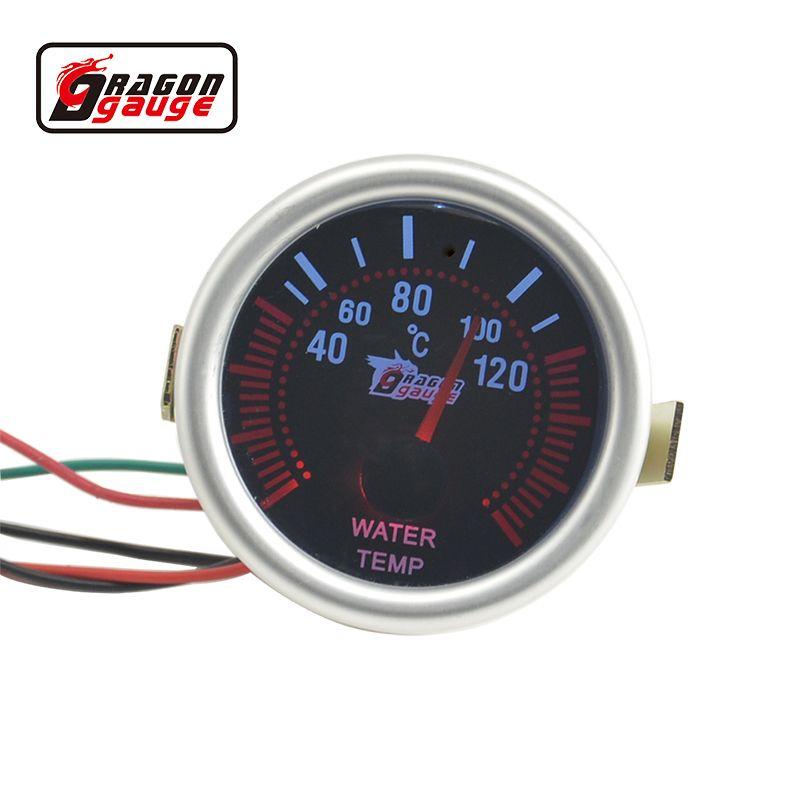 52mm  White backlight car motorcycle Water temp gauge Unit 40-120 C  Water Temperature meter Free shipping