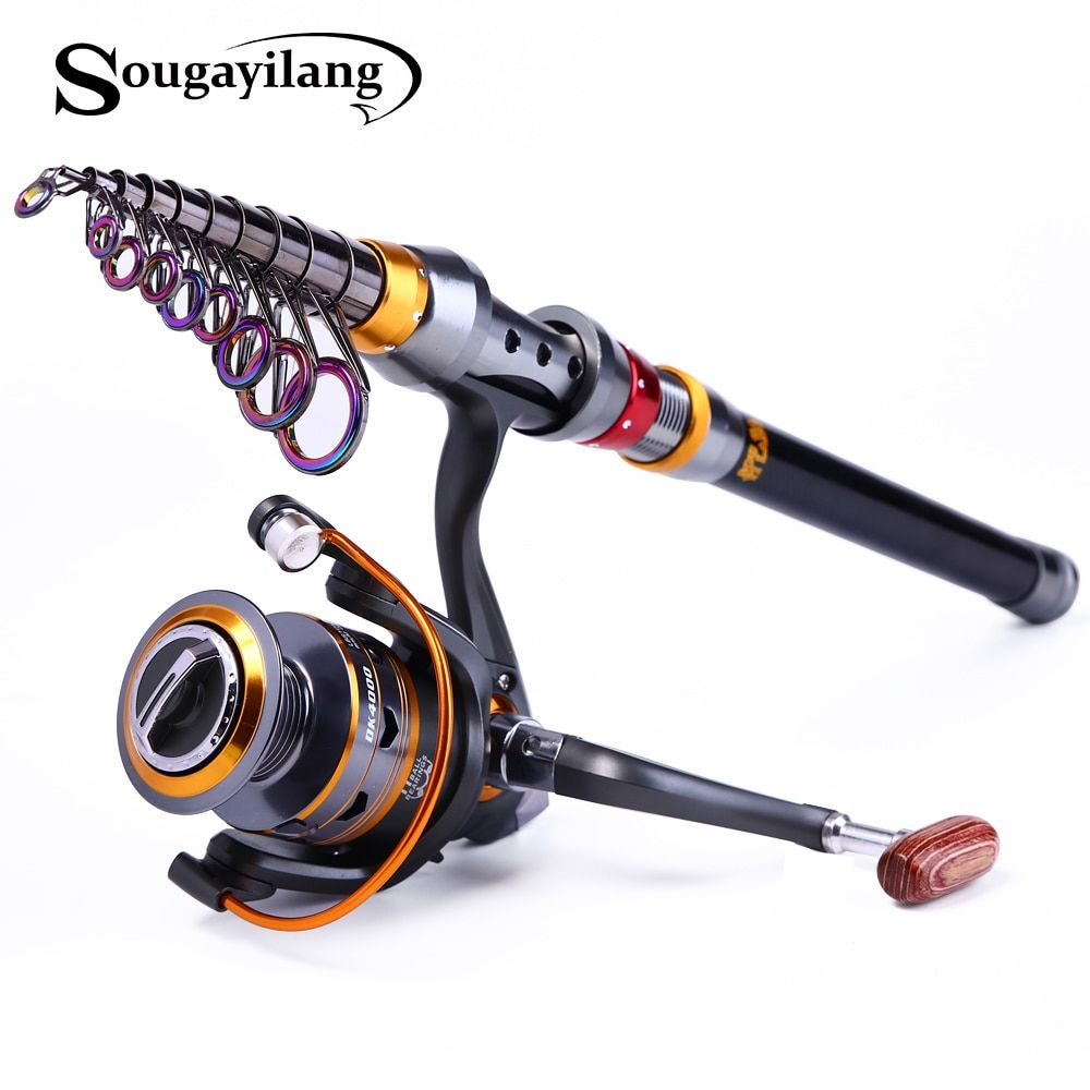 Sougayilang 1.8-3.6m Telescopic Rod and 10+1BB <font><b>Reel</b></font> Set and Fishing Rod of 99% Carbon Materials Carp Fishing Rod Combo De Pesca