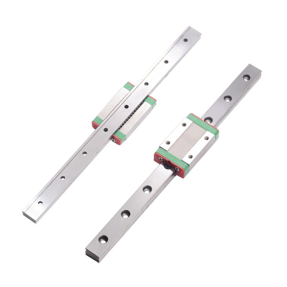 Cnc MGN7 MGN12 MGN15 MGN9 300 350 400 450 500 600 700 800mm miniature rail slide linéaire 1 pc MGN9 linéaire guide + 1 pc MGN9H transport