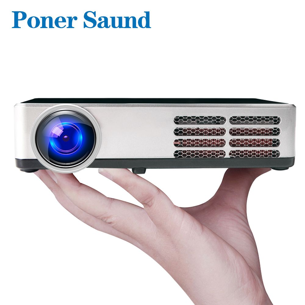 Poner Saund 600 DLP Mini Projektor Android Proyector Shutter 3D WIFI Unterstützung Full HD 1080p HDMI Home Theater Projetor bluetooth