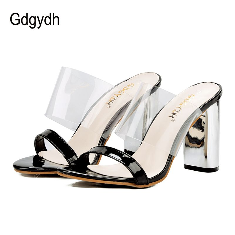 Gdgydh 2018 New Summer PVC Jelly Sandals Woman Open Toe Outerwear Women Shoes on Street Big Discount Ladies Casual Shoes Black
