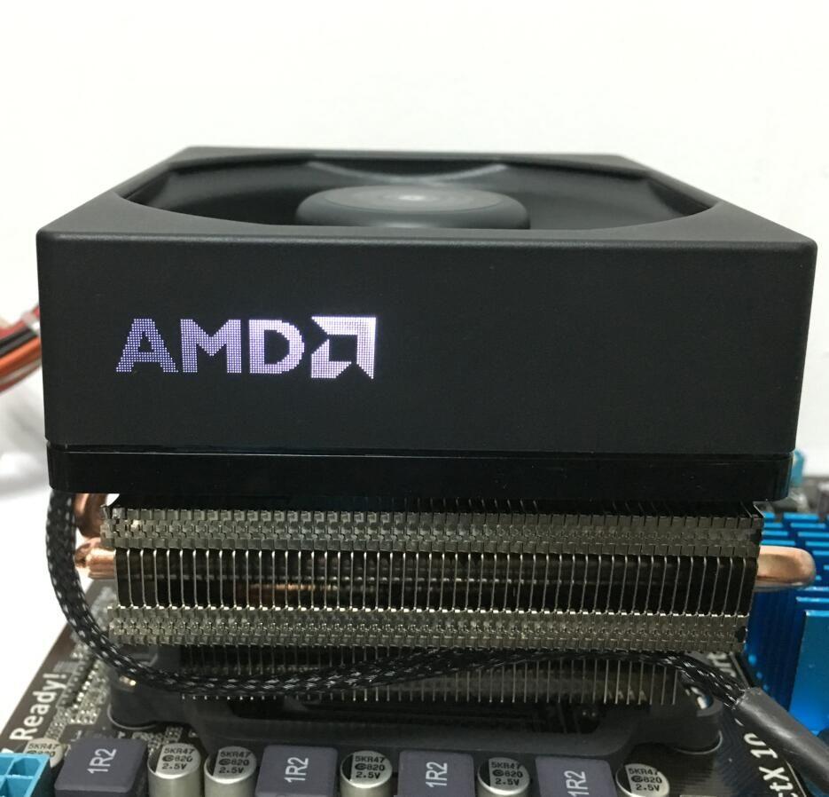 AMD FX-Serie FX-8350 8300 Boxed CPU Ursprünglichen prozessor lüfter kühlkörper 4 Linien Messing heizkörper Kühler fans kühlerlüfter