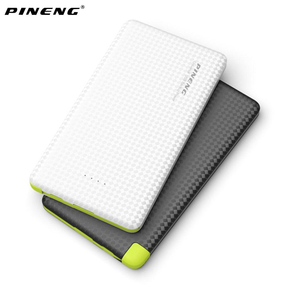 Original PINENG 5000 mAh Banco Móvil de la Energía de Carga Rápida Batería Externa Portátil Cargador de Batería del Li-polímero para Xiaomi Iphone