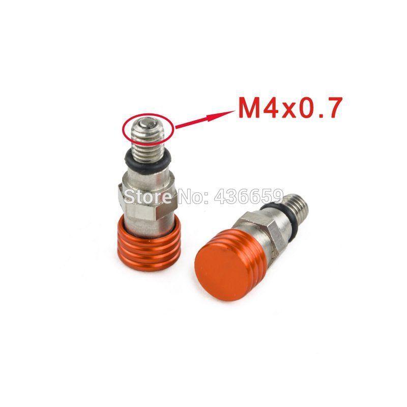 M4X0.7 Вилы воздуха выпускной Клапаны для KTM EXC SX SXF XC xcw 250/350/400/450/ 500/525 530