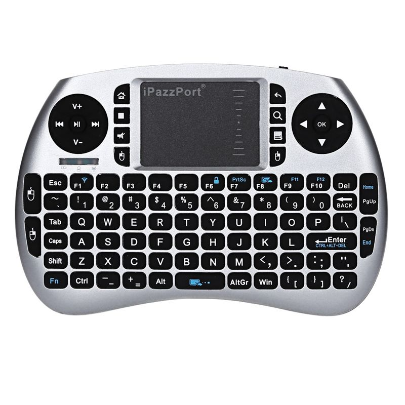 Original iPazzPort Backlight English 2.4GHz Wireless Keyboard Air Mouse Touchpad Handheld Backlit for Android TV BOX Mini PC
