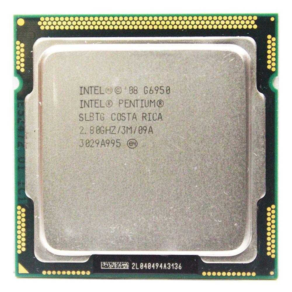 Original Intel Pentium Dual-Core G6950 Prozessor 2,8 GHz 3 MB Cache LGA1156 73 Watt Desktop-CPU