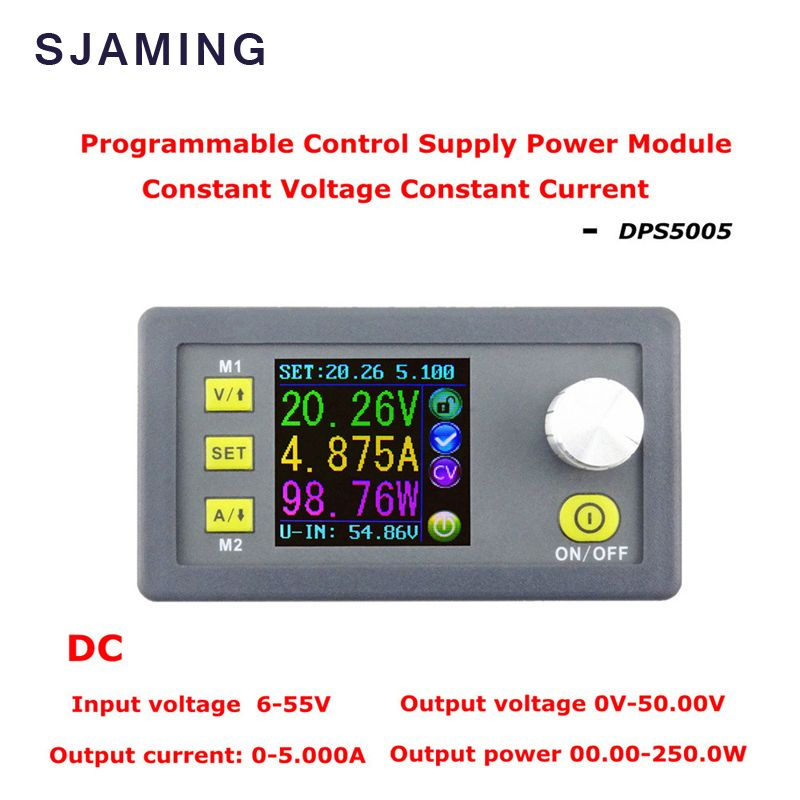 DC DPS5005 Tension Constante de courant Programmable module D'alimentation buck convertisseur de Tension couleur LCD voltmètre