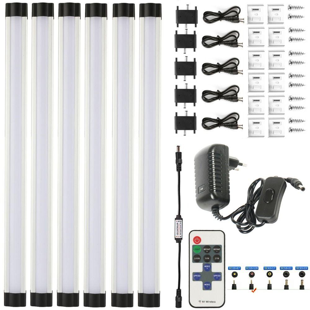 DMXY LED strip2835 12in/pcs * 3 W PC couverture LED sous armoire DC12V dimmable Télécommande IR 12 V 2A Adaptateur secteur ruban à LED