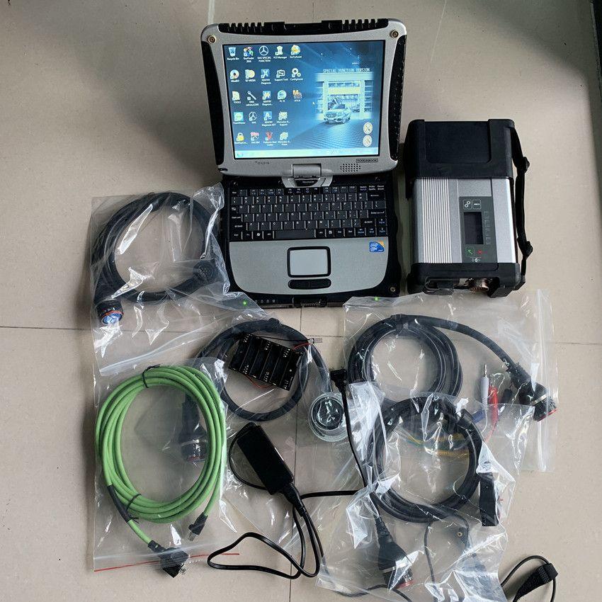 Super MB Star C5 SD Verbinden mit laptop cf19 Toughbook diagnose PC mit mb star c5 neueste software 2019,07 hdd für sd c5