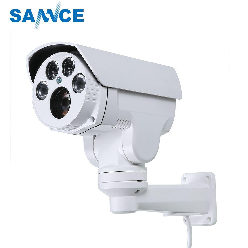 SANNCE AHD Full HD 1080P Camera 4in1 Autofocus Varifocal 2.8-12mm 4X Digital Zoom Pan/Tilt Bullet PTZ Camera IP66 In/outdoor