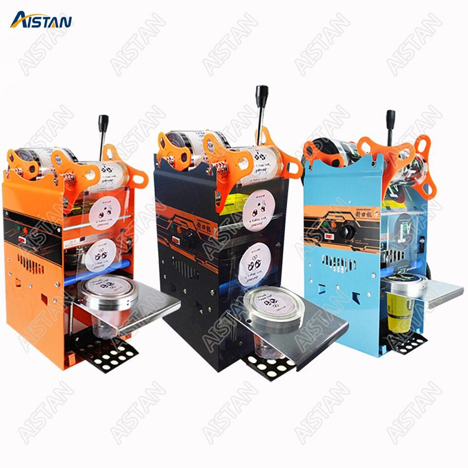 WY802F Hand Held plastic beverage bubble tea cup sealing machine for cup sealing firm type Heavy Duty 220V 110V