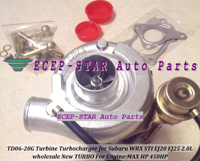 NEUE TD06 20g TD06-20G Turbo Turbine Turbolader Für SUBARU Impreza WRX STI Motor: EJ20 EJ20T EJ25 2.0L MAX Power 450HP